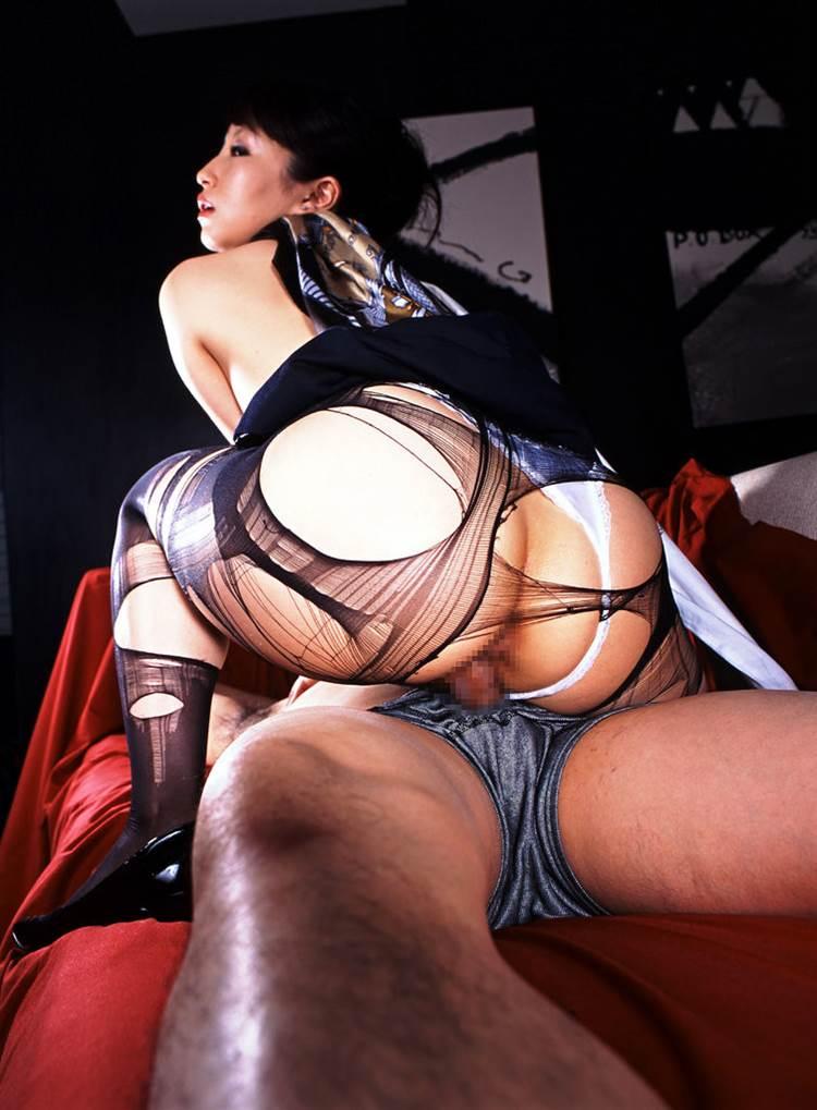 黒パンスト_破いてセックス画像06