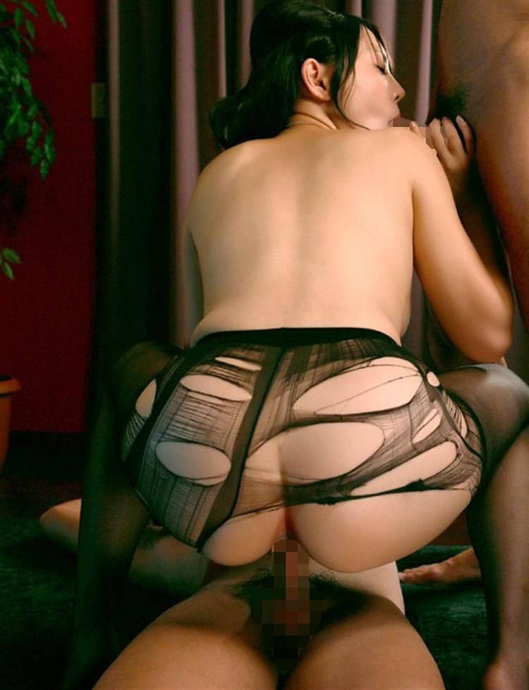 黒パンスト_破いてセックス画像18