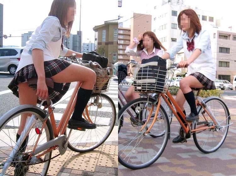 JK_チャリチラ_自転車パンチラ11