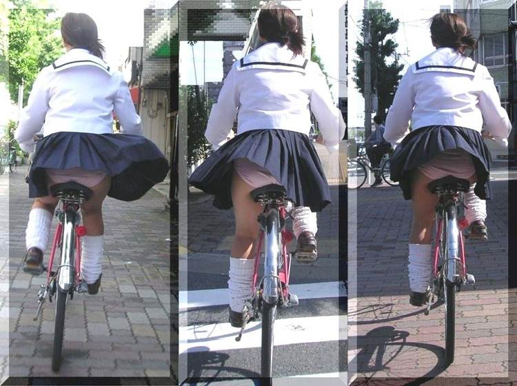 JK_チャリチラ_自転車パンチラ14