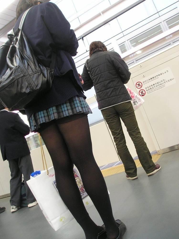 JK_黒パンスト_透け_街撮り盗撮13