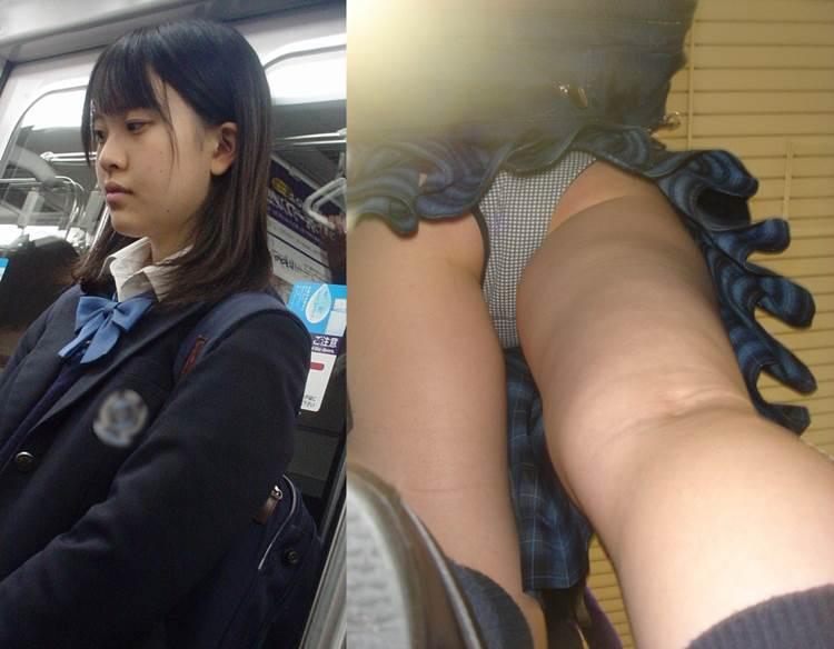 JK_逆さ撮り_綿パンツ_盗撮エロ画像18