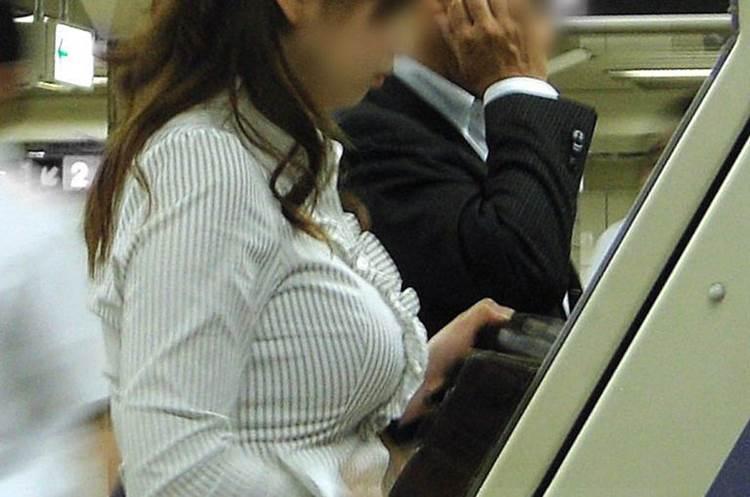 OL_ブラウス_着衣巨乳_街撮り盗撮12