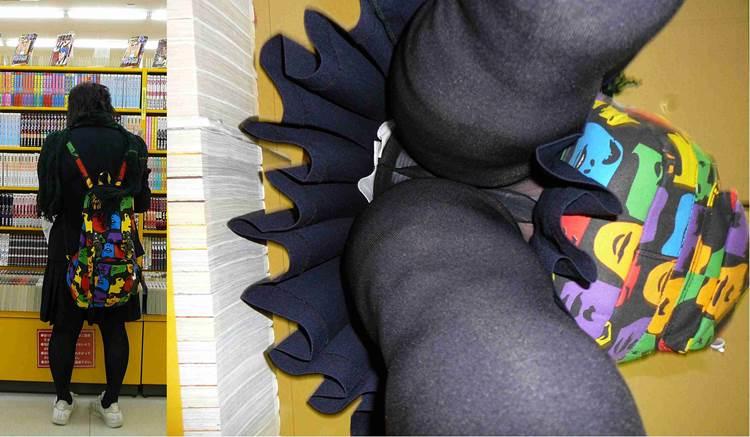 太ももがムチムチ過ぎて下着部分が隠れる下半身デブなJKのエロ画像