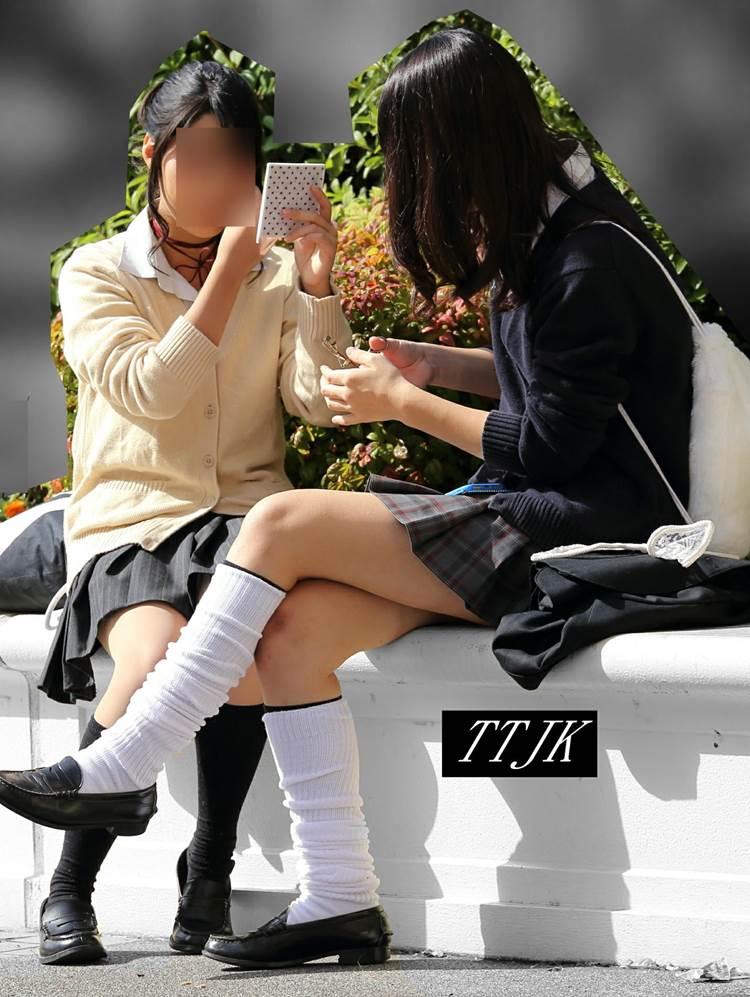 JK_ルーズソックス_街撮り盗撮04