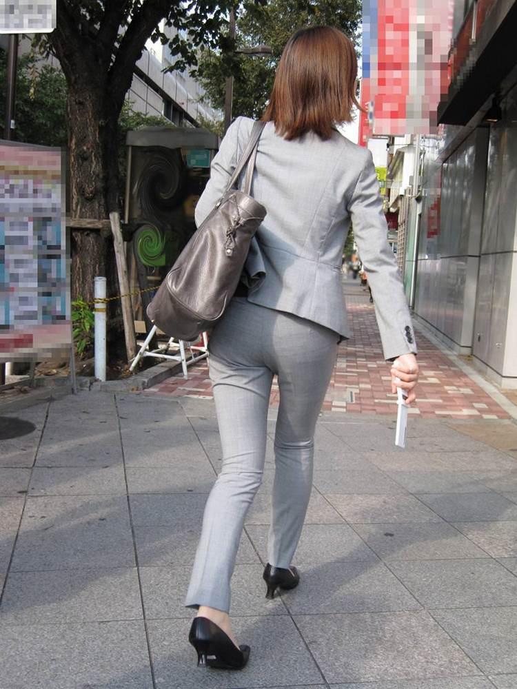 OL_グレーパンツ_小尻_街撮り_エロ画像14