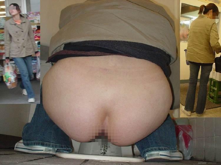 素人_和式トイレ_おしっこ中_盗撮エロ画像03