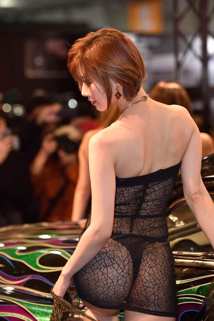 【東京オートサロン2018エ□画像】AIWAブースの透け服Tバックが今年も露出度上がってエ□過ぎた件ww
