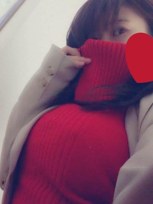 着衣巨乳_ニット_自撮り_エロ画像16