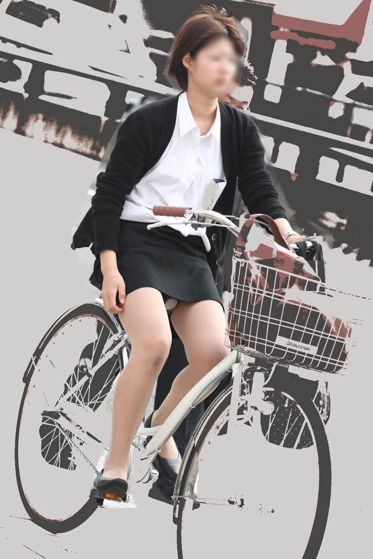 OL_タイトスカート_自転車_盗撮_エロ画像07