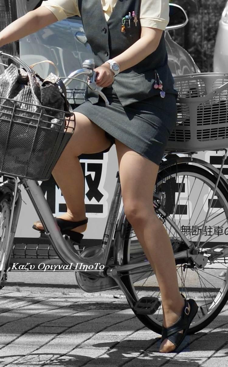 OL_タイトスカート_自転車_盗撮_エロ画像13