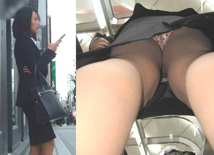 リクルートスーツ_新卒女子大生_逆さ撮り_盗撮_エロ画像16