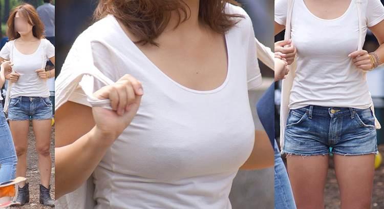 素人_白Tシャツ_街撮り_盗撮_エロ画像11