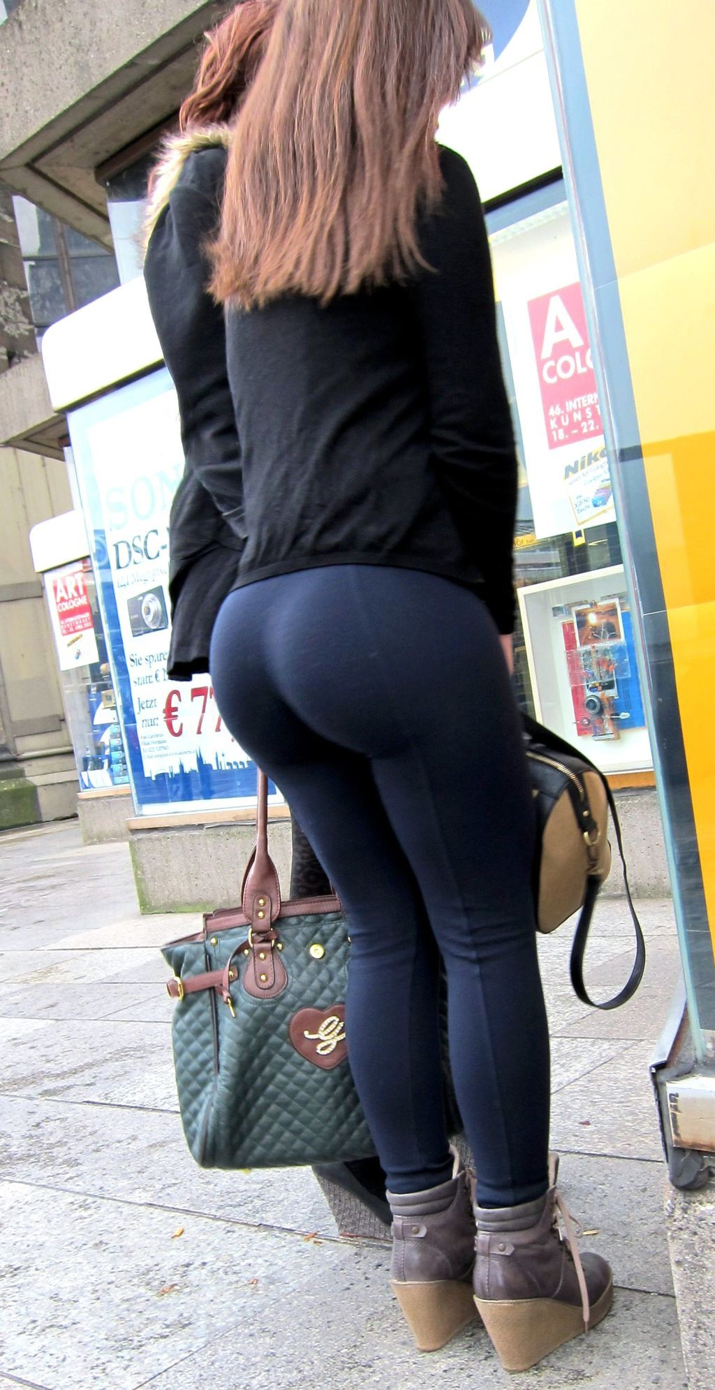 round ass tights Big in