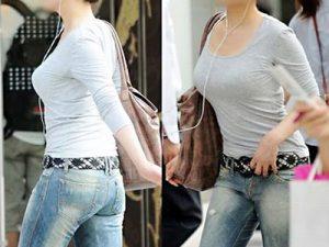 【着衣巨乳盗撮エロ画像】歩けば乳揺れ確定なスタイル良い素人女性の着衣おっぱいを街撮りww