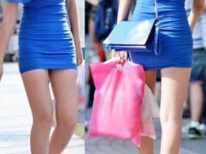 【ミニスカ素人街撮り盗撮エロ画像】ミニタイトスカートやミニスカートを履いた体のラインと肌を露出したギャルたちww