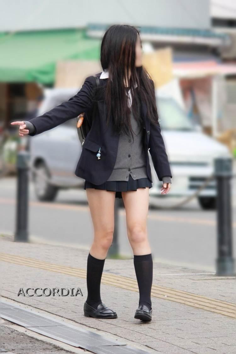 JK_冬服_ミニスカ_街撮り_盗撮_エロ画像11