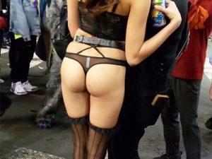 【ハロウィン盗撮エロ画像】カオス過ぎた渋谷ハロウィン会場で過剰露出した女性たちを隠し撮りww