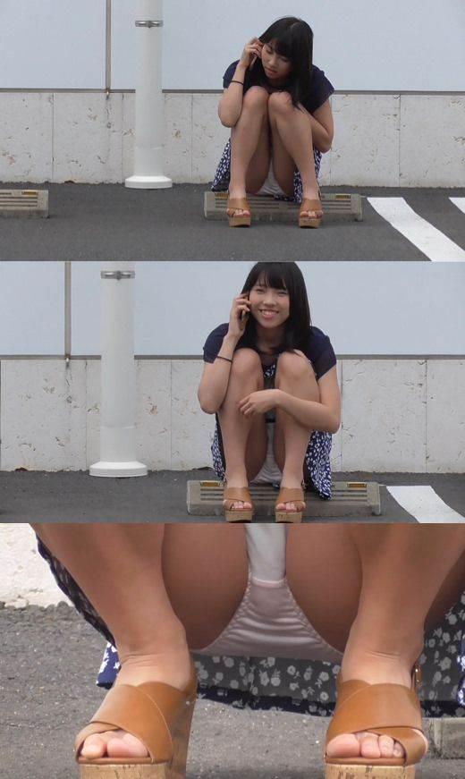 座りパンチラ_盗撮_街撮り_エロ画像10