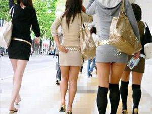 【タイトミニワンピース街撮り盗撮エロ画像】体のラインがハッキリわかるエロ過ぎる服を街中で着た一般女性を隠し撮りww