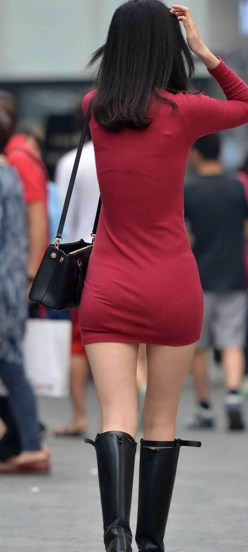 タイトスカート_ミニワンピース_街撮り_盗撮_エロ画像14